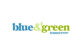 blue and green tomorrow logo