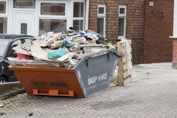 Skip full of waste