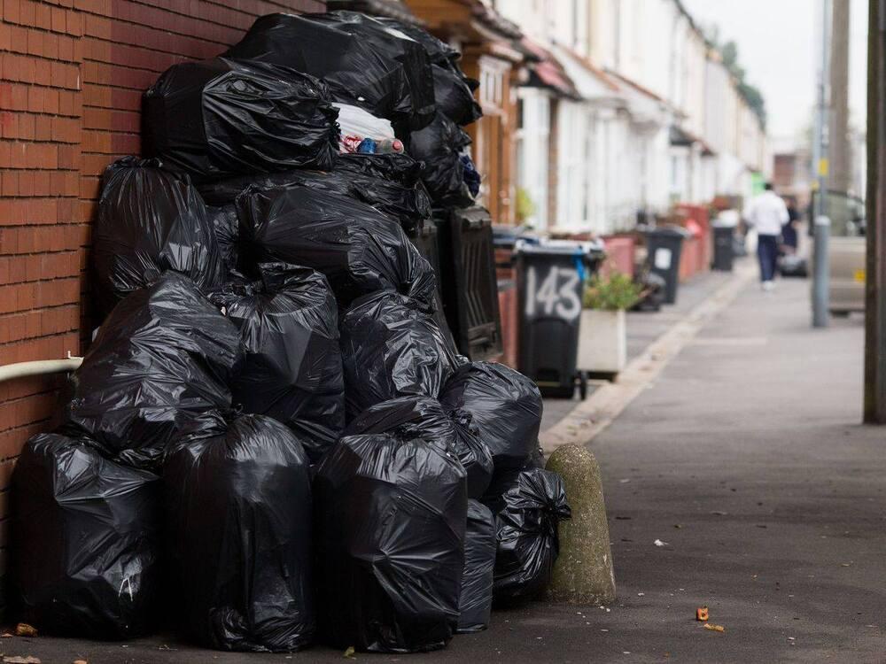 rubbish outside house